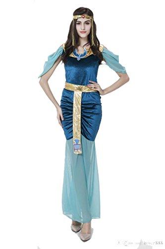PINSE Blue Womens Egypt Goddess Halloween Costume