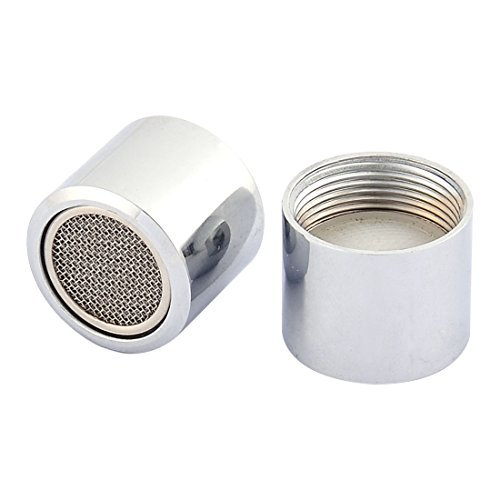 - DealMux Stainless Steel Household Faucet Filter Net Nozzle 18mm Female Thread 2 Pcs Silver Tone