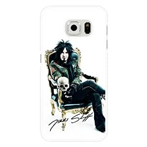 Galaxy S6 Case, Customized Nikki Sixx White Hard Shell Samsung Galaxy S6 Case, Nikki Sixx Galaxy S6 Case(Not Fit for Galaxy S6 Edge)