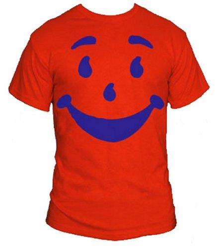 Kool Aid Guy T-Shirt-Funny Brick Wall Bustin' Thirst Quenchin' Shirt-Red-XL