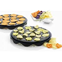 Top Chips Maker - Mastrad Set of 2 Interlocking Silicone Chip Trays - Crisp Vegetables Fruits Without Fats and Oils - Microwave and Dishwasher Safe
