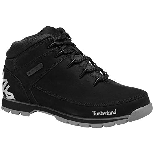 Timberland Mens Euro Sprint Hiker Walking Winter Leather Ankle Boots - Jet Black - 11