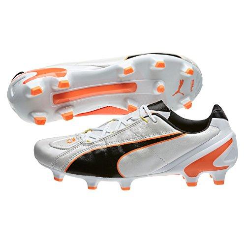 Puma King Ii Ef + Fg Voetbal Schoenplaatjes Wit-zwart-fluo Flits Oranje