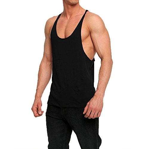 OA-Mens-Stringer-Cotton-Tank-Tops-Raw-Edge-Vest