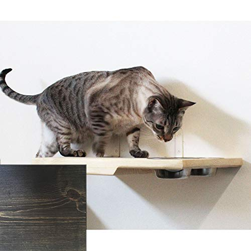 CatastrophiCreations Cat Dining Table Handcrafted Wall-Mounted Feeder Shelf