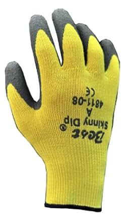 Showa Best 4811 Flat Dipped Natural Rubber Glove, Skinny Dip Seamless Kevlar Liner, Cut Resistant, X-Small  (Pack of 12 Pairs)