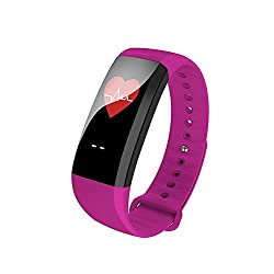 Ninecoo Color Screen Fitness Tracker,activity Tracker Water Resistant With Sleep Blood Heart Rate Monitor, Bluetooth Smart Wristband Bracelet Sport Pedometer Fitness Watch For Android & Ios (Purple)