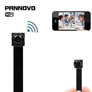 Mini wireless wifi spy hidden Camera , PANNOVO HD 720P wifi ip p2p Camera Motion Detection Wireless Video recorder