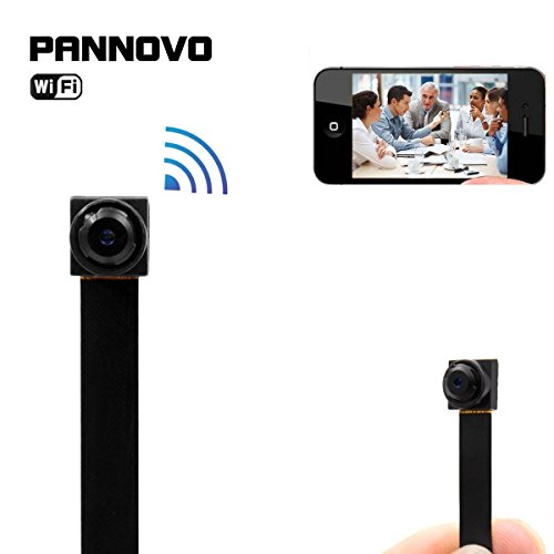 Mini wireless wifi spy hidden Camera, PANNOVO HD 720P wifi ip p2p Camera Motion Detection Wireless Video recorder...