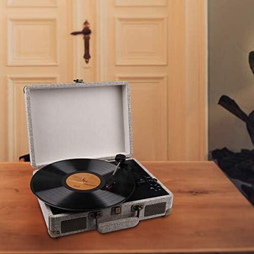 Amazon.com: Reproductor de discos de vinilo con altavoces y ...
