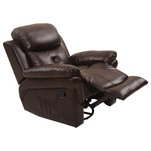 Eight24hours Massage Recliner Sofa Chair Rocking Lounge Heated Swivel Executive w/ Control