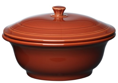 Fiesta 495-334 Covered Casserole, 70-Ounce, Paprika by Homer Laughlin