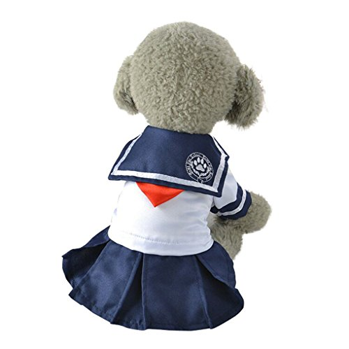 Pet Dress,Haoricu Hot Sale!Summer Cute Sweet Cute Navy Style Pet Puppy Dress For Small Dogs (XS, Blue)