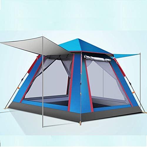 3人のキャンプテント二重防水ポップアップテント抗UVビーチ屋外旅行ハイキングキャンプ狩猟釣り,Blue