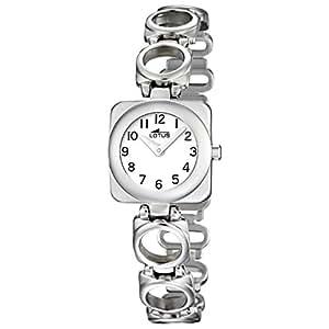 Lotus 15712/1 - Reloj analógico infantil de cuarzo con correa de piel blanca - sumergible a 50 metros