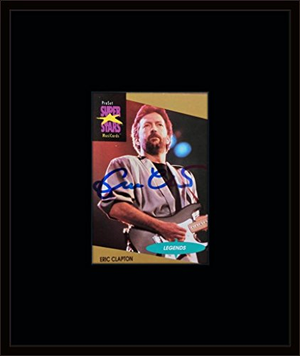 Framed Eric Clapton Autograph with Certificate of Authenticity