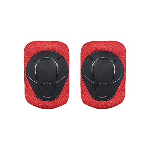 LANOVAGEAR Kids Adjustable Protective Gear Set Knee Elbow Pads Wrist Guards for Skateboard Bicycle Sports Safety (Red, Small) by LANOVAGEAR (Image #8)