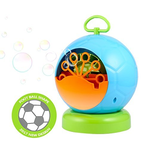 OCDAY Portable Automatic Bubble Machine Bubble Blowing Soap Bubbles for Outdoor or Indoor Party Bubbles Maker Toy Gift Kids Fun,Use for Christmas, Paties, Barbecue, Ball, Wedding