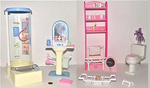 Barbie Light Up Bathroom Playset (1999)
