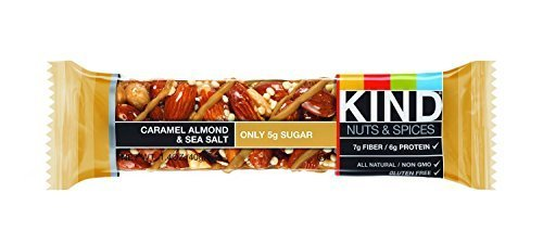 Caramel Cereal (KIND Nuts & Spices, Caramel Almond Sea Salt, 24 Bars)