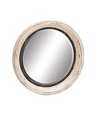 Deco 79 20260 Wood/Metal Wall Mirror, 35\