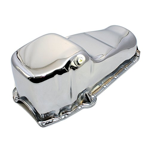 Assault Racing Products A7005 Small Block Chevy Chrome Oil Pan Stock Capacity SBC 283 305 327 350 400 ()