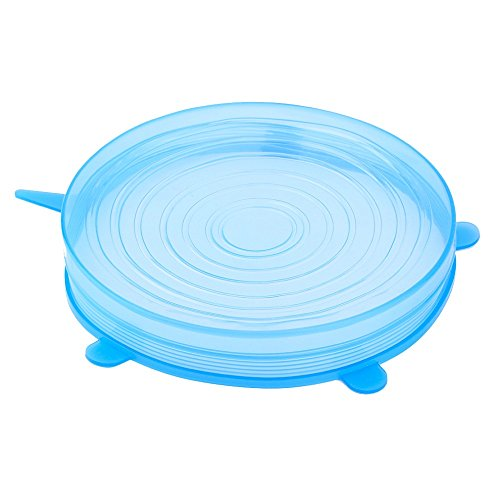 New Arrival Set Of 6 Silicone Stretch Lids Reusable