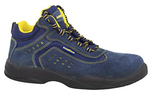 Goodyear G138842C - Botas (piel serraje, talla 48) color azul
