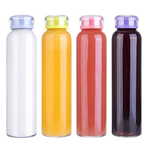 MIU COLOR Glass Water Bottles, for Beverage, Dr...