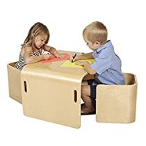 ECR4Kids Bentwood Multipurpose Kids Table and 2 Chairs Set