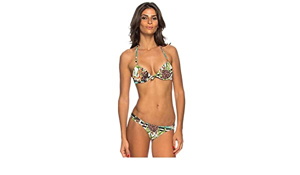 Mujer Morena Blanco Lua De Bikini Para WhiteGreenBlue Top AjL3R54