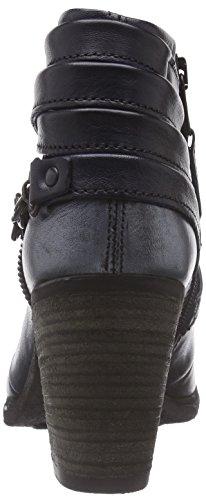 Mjus 580236 - botas de caño bajo de cuero mujer azul - Blau (Carbone+Jeans+Cosmo)