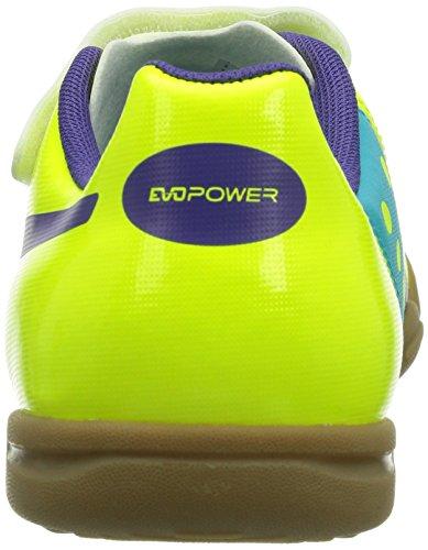 Puma Evopower 4 It V Jr - Zapatillas Fluro Yellow-Prism Violet-Scuba Blue 3
