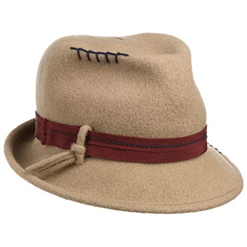 Mayser Pam Wolly Trilby Hat Women Beige 7-7 1 8 7daac557388
