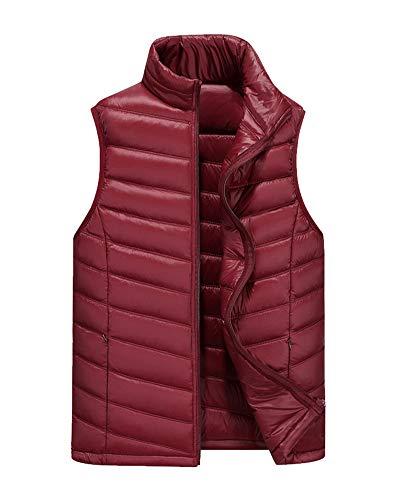 Red Down Coat Jacket Sleeveless Padded Men's Vest Lightweight DianShaoA Gilets zwFaqxn1B