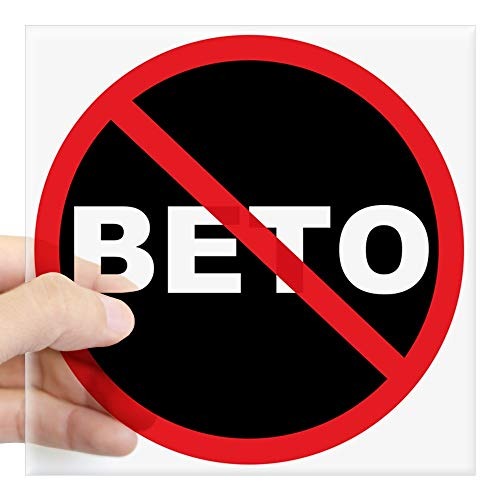 (CafePress Anti Beto for Senate Texas 2018 Sticker Square Bumper Sticker Car Decal, 3