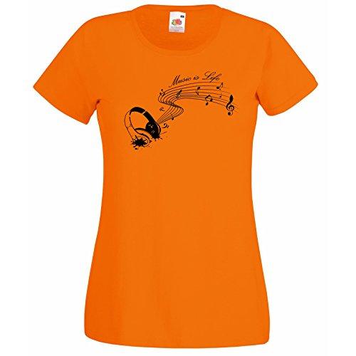 regalo shirt vita cuffia citazione con T Premium arancione Super decalcomania donna testo la gratuito telaio è del camicia mia parole motivazionale musica frutta ispirazione Rcd4dWxU