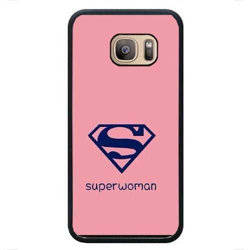 Samsung Galaxy S7 Phone Case,Superman Logo Designs,Stylish Smartphone Skin Protective Case Hard Shell Black