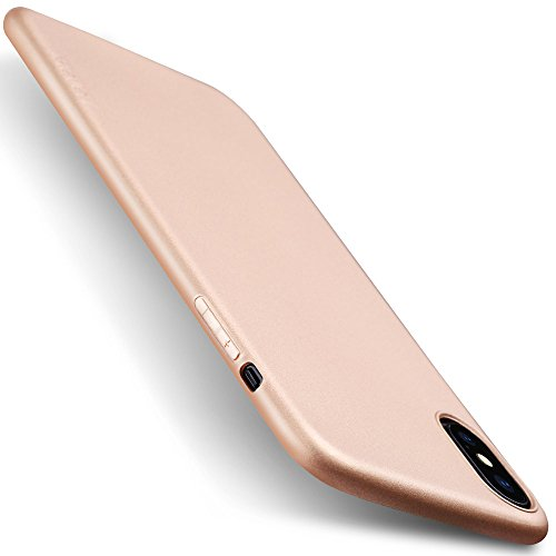 X-level Case Compatible iPhone X and iPhone Xs,Soft TPU Matte Surface Slim Ultra Thin Light Full Protective Back Cover Compatible Apple iPhone Xs Case (2018) / Apple iPhone X Case (2017)-Gold