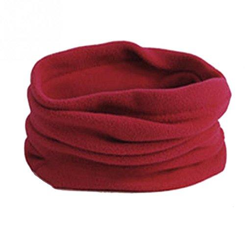polar máscara azul con cálida bufanda mujer de y térmica forro cuello unisex marino y rojo para vino invierno Horrenz Bufanda hombre awq7aTv