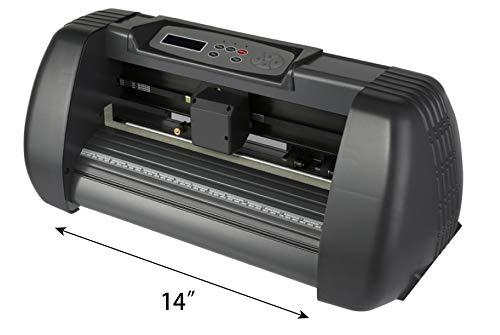 FINCOS New 14'' Vinyl Cutter Cutting Plotter Machine Artcut Software Computer Control by FINCOS (Image #3)