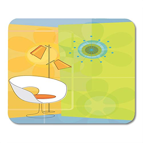 Nakamela Mouse Pads Furniture Starburst Retro Modern 1950S 50S Chair Chic Clock Kitsch Mouse mats 9.5