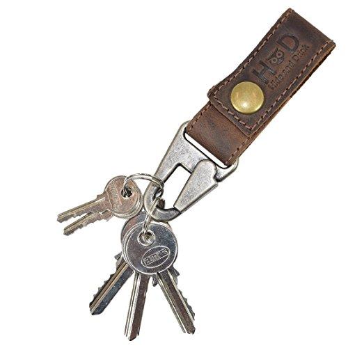Shoes Saddleback (Rustic Leather Key Ring Holder Handmade by Hide & Drink :: Bourbon)
