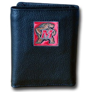 NCAA Maryland Terrapins Leather Tri-Fold (Maryland Terrapins Ncaa Leather)