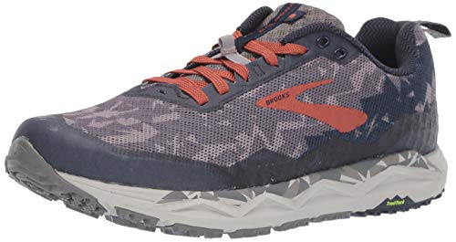 Brooks Men's Caldera 3 Grey/Brick/Navy 15 D US