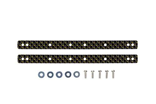 HG 13・19mmローラー用 カーボン マルチ補強プレート(2mm金ラメ) 「ミニ四駆限定」 [95065]