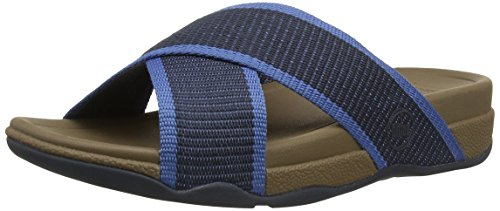 Fitflop Surfer Slide - Tacones Hombre Blue (Super Navy)