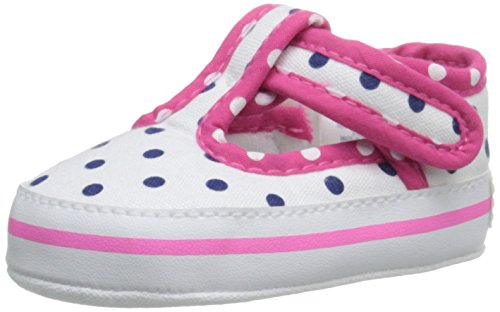 Gerber Girls' White Polka MJ/Sneaker-K Navy, 1 M US Infant