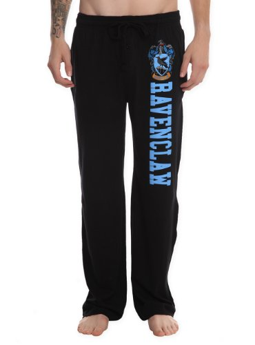 Hot Topic Harry Potter Ravenclaw Guys Pajama Pants (Medium) Black,Blue (Harry Potter Pants)