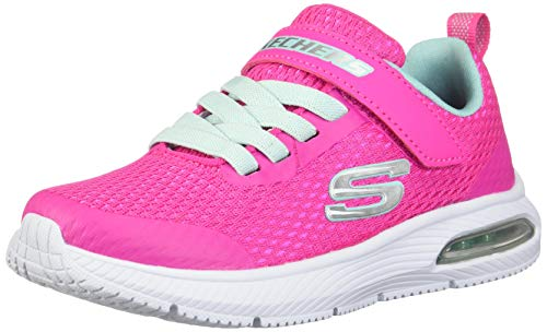 Skechers Kids Girl's DYNA-AIR Shoe, Hot Pink/Aqua, 5 Medium US Big Kid (Skechers Memory Foam Shoes Girls)